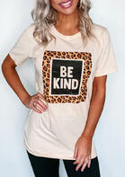 Leopard Be Kind T-Shirt Tee