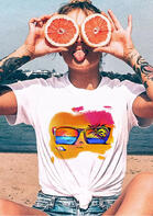 Beach Conch Glasses T-Shirt Tee