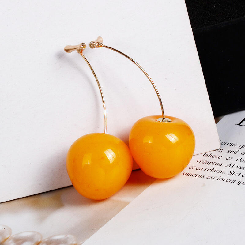 Fashion Cherry Pendant Earrings