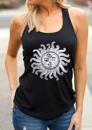 Vintage Sun And Moon Tank - Black