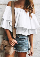 Ruffled Layered Off Shoulder Blouse