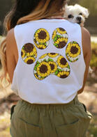Sunflower Paw Tank
