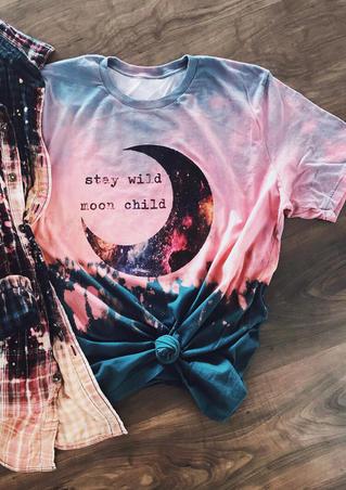 Presale - Stay Wild Moon Child Tie Dye T-Shirt Tee