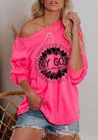 My God O-Neck Blouse - Pink