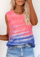 Tie Dye Gradient Tank without Necklace