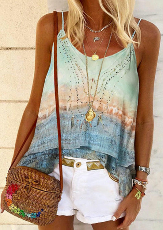 Tie Dye Gradient Layered Camisole - without Necklace фото