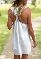 Ruffled Open Back Mini Dress