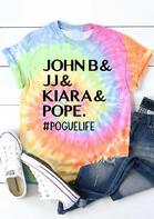 Tie Dye John B And JJ And Kiara And Pope Pogue Life T-Shirt Tee