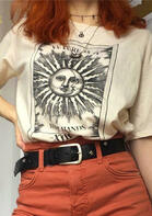 Future Is In Your Hands T-Shirt Tee without Necklace - Apricot