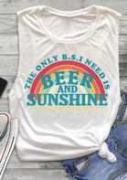 Rainbow Beer And Sunshine Tank