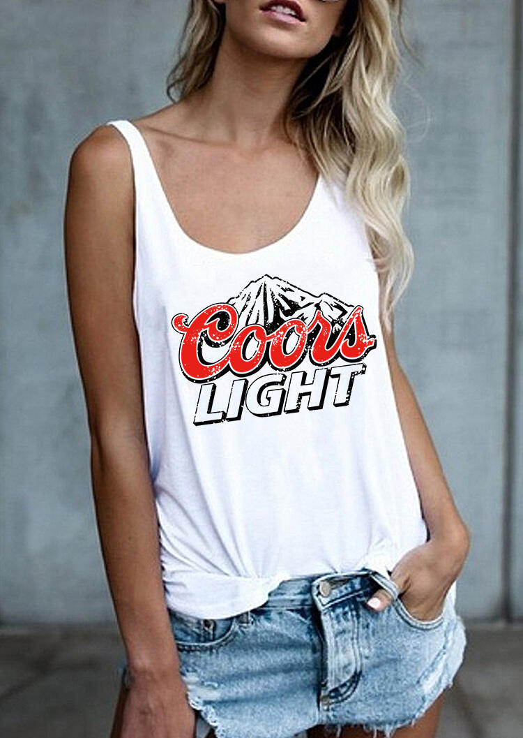Tank Tops Coors Light Mountain Tank in White. Size: S фото