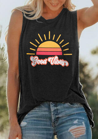 Good Vibes O-Neck Tank - Dark Grey
