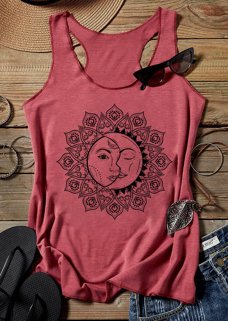 Mandala Sun And Moon Tank - Watermelon Red фото
