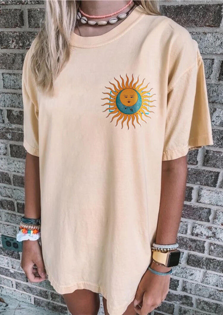 Sun And Moon Mini Dress without Necklace - Apricot фото