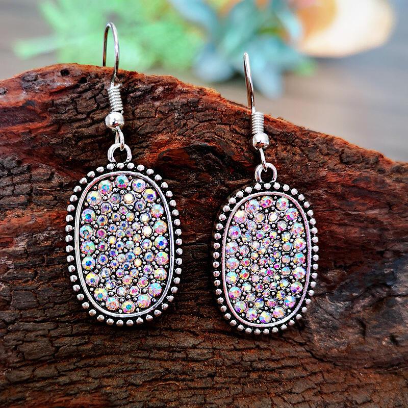 Fashion Colorful Rhinestone Alloy Earrings фото