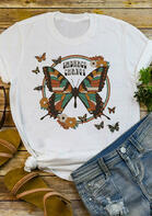 Embrace Change Butterfly T-Shirt Tee - White