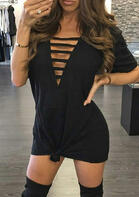 Hollow Out Casual Mini Dress