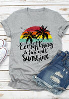 Everything Is Fine With Sunshine T-Shirt Tee