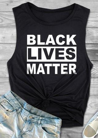 Presale - Black Lives Matter O-Neck Tank - Black