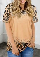 Leopard Gradient Color T-Shirt Tee