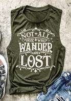 Fairyseason Clothing Not All Those Who Wander Are Lost Tank