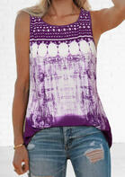 fairyseason clothing - Tie Dye O-Neck Tank
