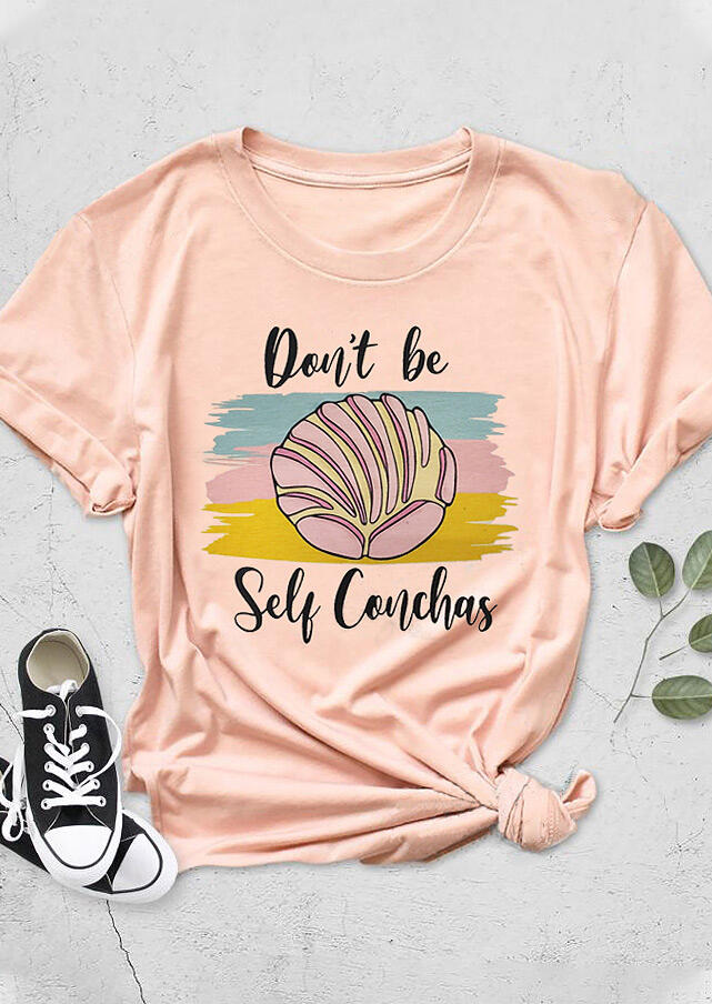 Don't Be Self Conchas T-Shirt Tee - Pink фото