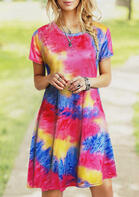 Rainbow Tie Dye Mini Dress