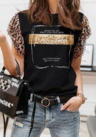 When You Do What You Love With Passion Leopard Blouse
