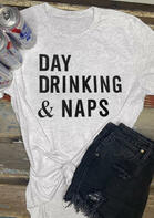 Bellelily Day Drinking & Naps T-Shirt Tee