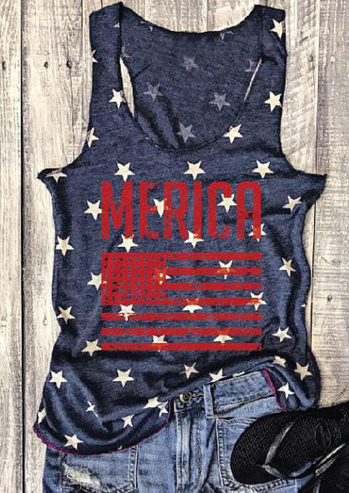 Merica American Flag Tank фото