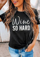 fairyseason clothing - Wine So Hard O-Neck T-Shirt Tee