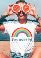 fairyseason clothing - I'm Over It Rainbow T-Shirt Tee
