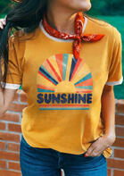 Fairyseason Clothing Sunshine Rainbow T-Shirt Tee without Scarf