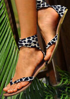 fairyseason clothing - Leopard Flip Flops Flat Sandals