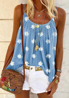 Daisy Floral Ruffled Camisole