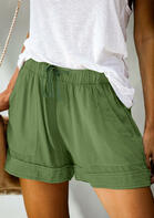 Bellelily Drawstring Tie Pocket High Waist Shorts