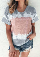 fairyseason clothing - Tie Dye O-Neck T-Shirt Tee