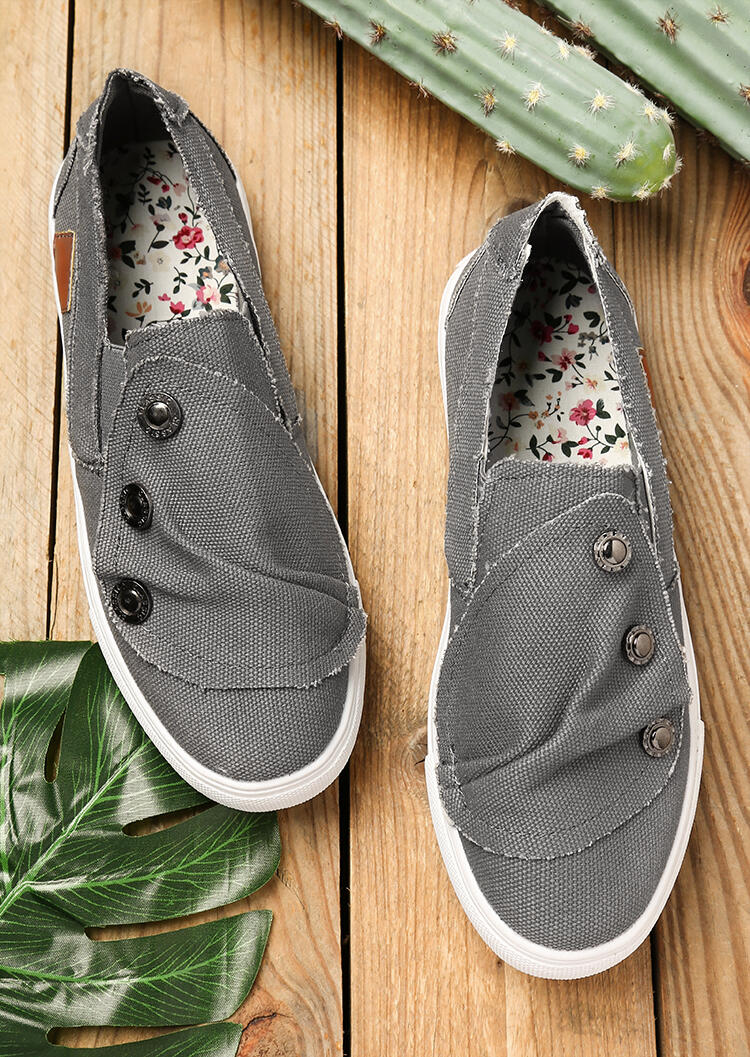 Comfy Casual Women's Slip-On Shoes Canvan Sneakers in Gray. Size: 40,41,42 фото
