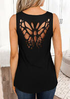 fariyseason clothing - Butterfly Hollow Out Casual Tank