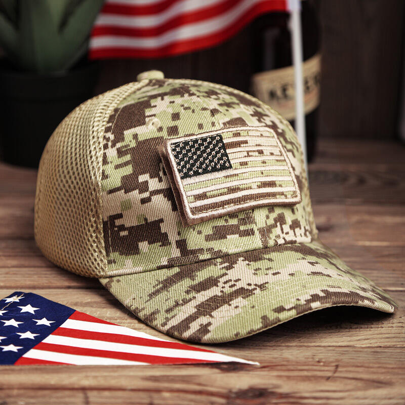 Hats American Flag USA Camouflage Hollow Out Baseball Hat in Light Green,Army Green. Size: One Size фото