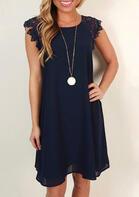 Lace Splicing Mini Dress