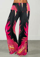 Flame Wide Leg Elastic Waist Pants