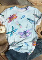 Fairyseason Dragonfly O-Neck T-Shirt Tee