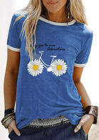 Fairyseason New Arrivals - Say Yes To New Adventure Daisy Bike T-Shirt Tee