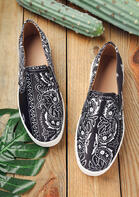 Paisley Ethnic Slip On Flat Sneakers