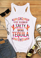 Bellelily New Arrivals - If You're Gonna Be Salty Bring Tequila Cactus Tank