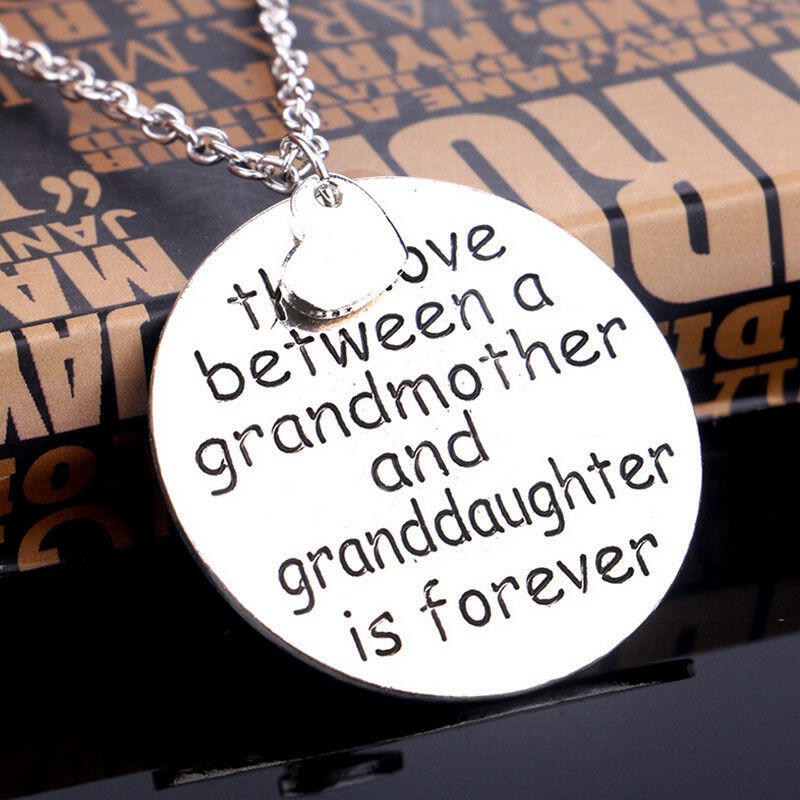 Necklaces The Love Between A Grandmother and Granddaughter Is Forever Pendant Necklace in Silver. Size: One Size фото
