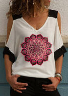 Mandala Cold Shoulder Blouse
