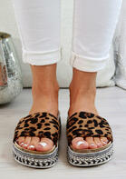 Sumemr New Style - Leopard Braid Wedged Slippers